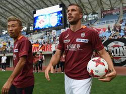 Steht mit Vissel Kobe im japanischen Pokal-Halbfinale: Lukas Podolski