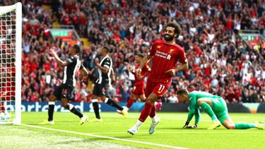 Mohamed Salah cerró la cuenta en Anfield.