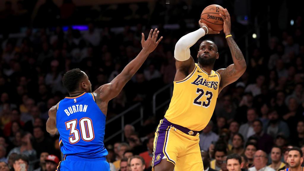 LeBron James führt die LA Lakers zurück an die Spitze der NBA