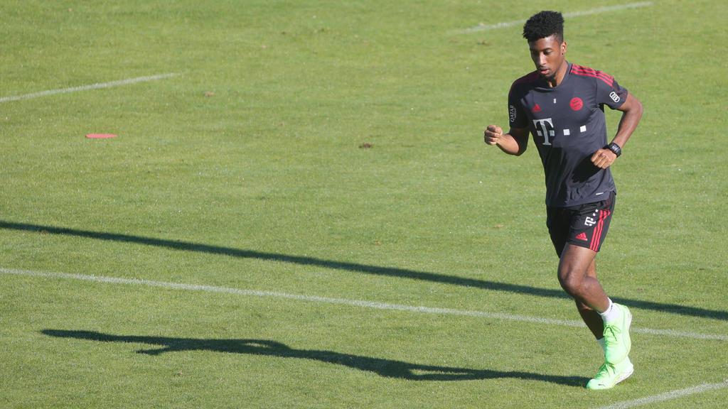 Der FC Bayern darf sich bei Kingsley Coman über Fortschritte freuen