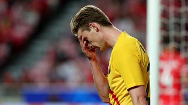 Der FC Barcelona musste sich Benfica geschlagen geben