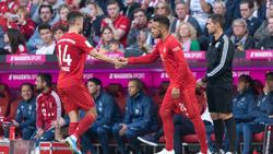 Ivan Perisic (l.) und Corentin Tolisso stehen in Diensten des FC Bayern München