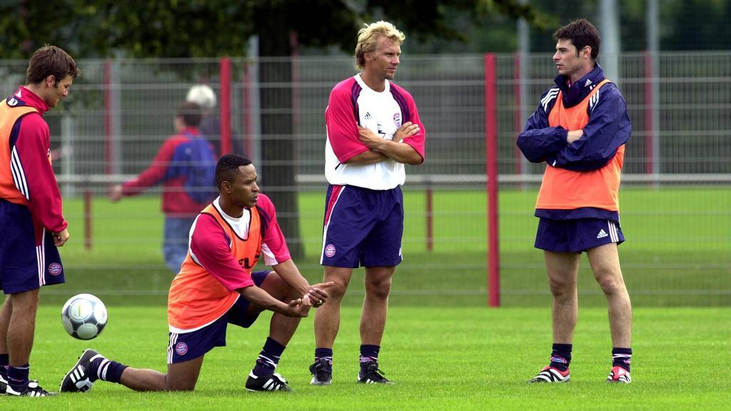 Thorsten Fink (2.v.r.) spielte sechs Jahre für die Profis des FC Bayern
