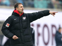 Achim Beierlorzer will, dass sein Team die Chancen gegen Wolfsburg nutzt
