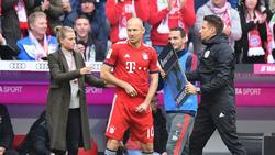 Arjen Robben freute sich am vergangenen Wochenende über sein Comeback beim FC Bayern