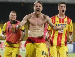 Puscas celebra un gol con su equipo que acaba de ascender. (Foto: Imago)