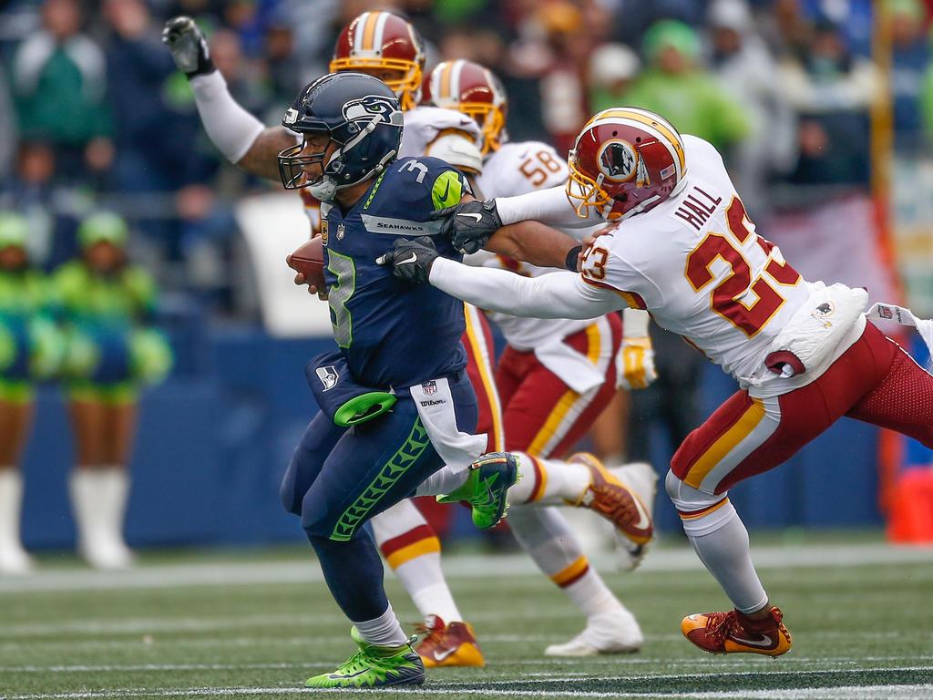 Russell Wilson und seine Seahawks mussten sich den Redskins geschlagen geben