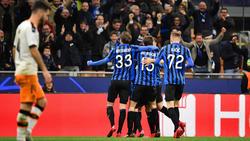 Atalanta Bergamo feiert den 4:1-Sieg gegen den FC Valencia