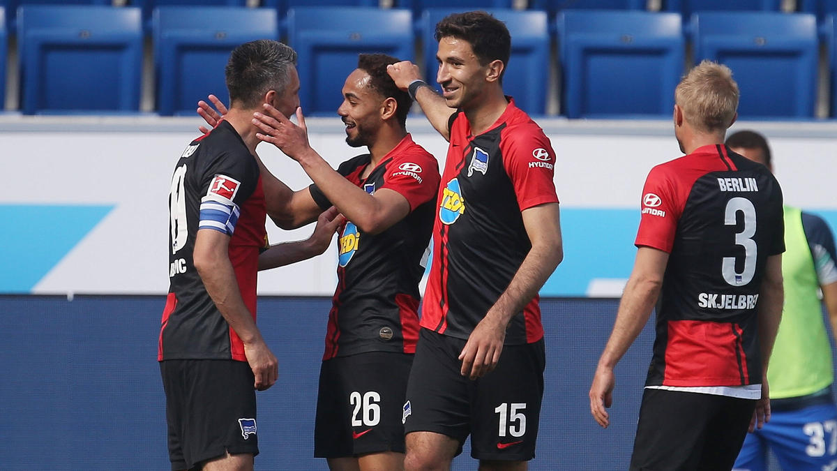 Die Stars von Hertha BSC freuten sich etwas zu ausufernd