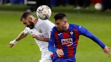 Karim Benzema (l.) erzielte das wichtige 1:0 für seine Farben