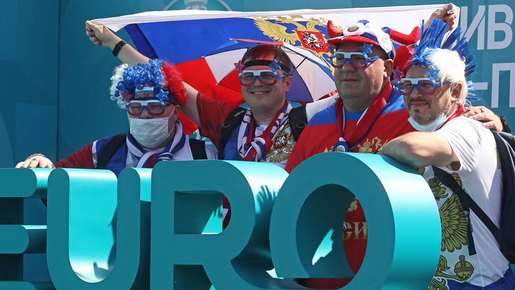 Russische Fans sind in Dänemark nicht vor Ort