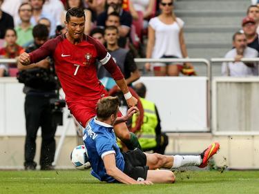 Cristiano Ronaldo logró dos goles en el amistoso contra Estonia. (Foto: Imago)