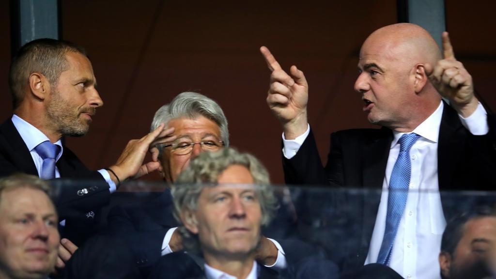 UEFA-Boss Alexander Ceferin und FIFA-Chef Gianni Infantino haben einiges zu besprechen
