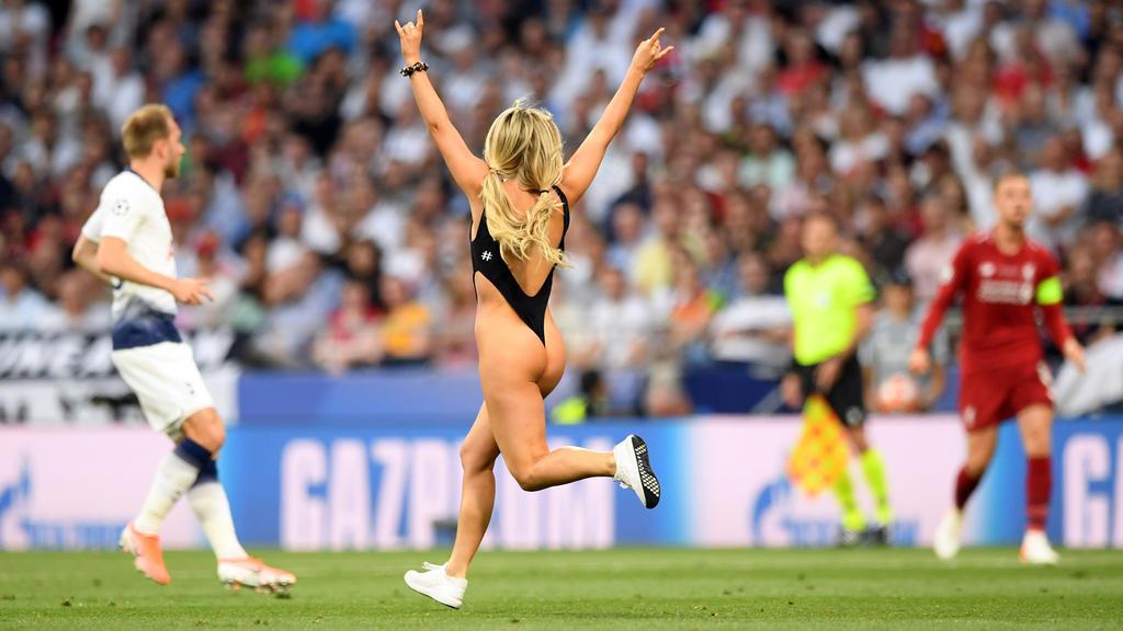 Kinsey Wolanski sorgte beim Champions-League-Finale für Schlagzeilen