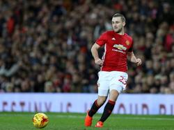 Luke Shaw krijgt speeltijd tijdens het League Cup-duel Manchester United - West Ham United (30-11-2016).