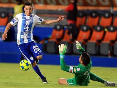 El delantero del Pachuca Hirving Lozano hizo un doblete. (Foto: Imago)