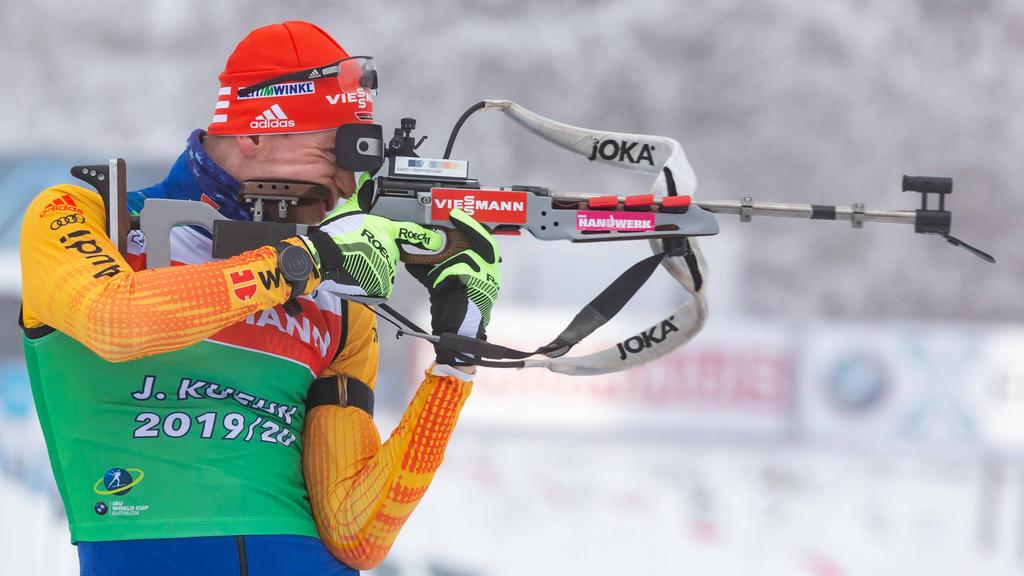 Johannes Kühn lief beim Sprint von Oberhof aufs Podest