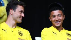Seit 2018 Teamkollegen beim BVB: Thomas Delaney (l.) und Jadon Sancho