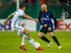 Rapid um Kapitän Stefan Schwab war gegen Inter lange Zeit zu passiv