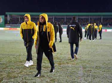 El partido del Borussia Dortmund tuvo que aplazarse por la nieve. (Foto: Imago)