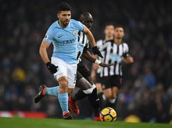 Sergio Agüero gelingen gegen Newcastle United drei Treffer