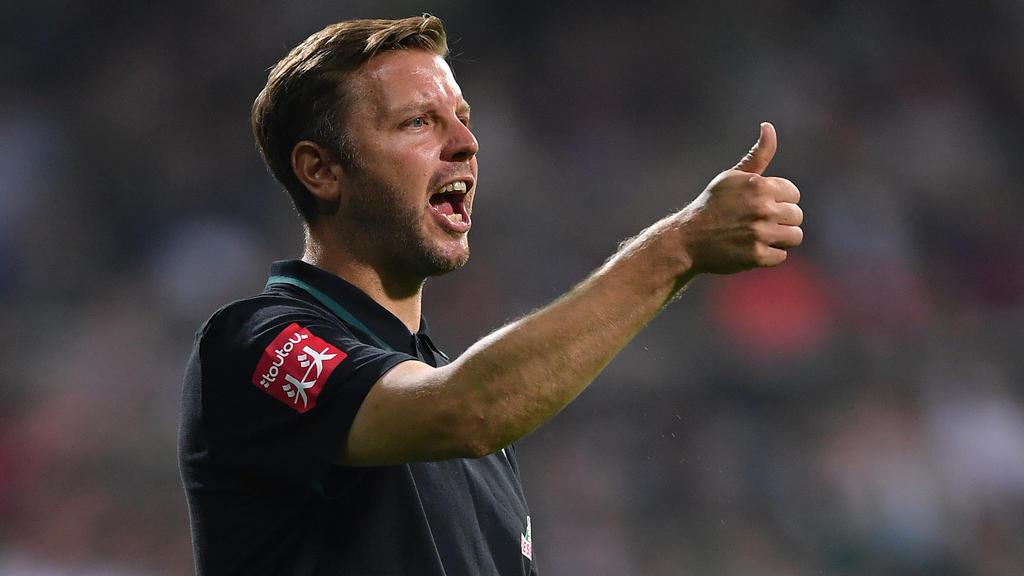 Werders Trainer Florian Kohfeldt hat große Ziele