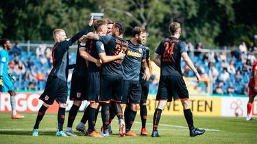 Jahn Regensburg zog souverän in die zweite DFB-Pokalrunde ein