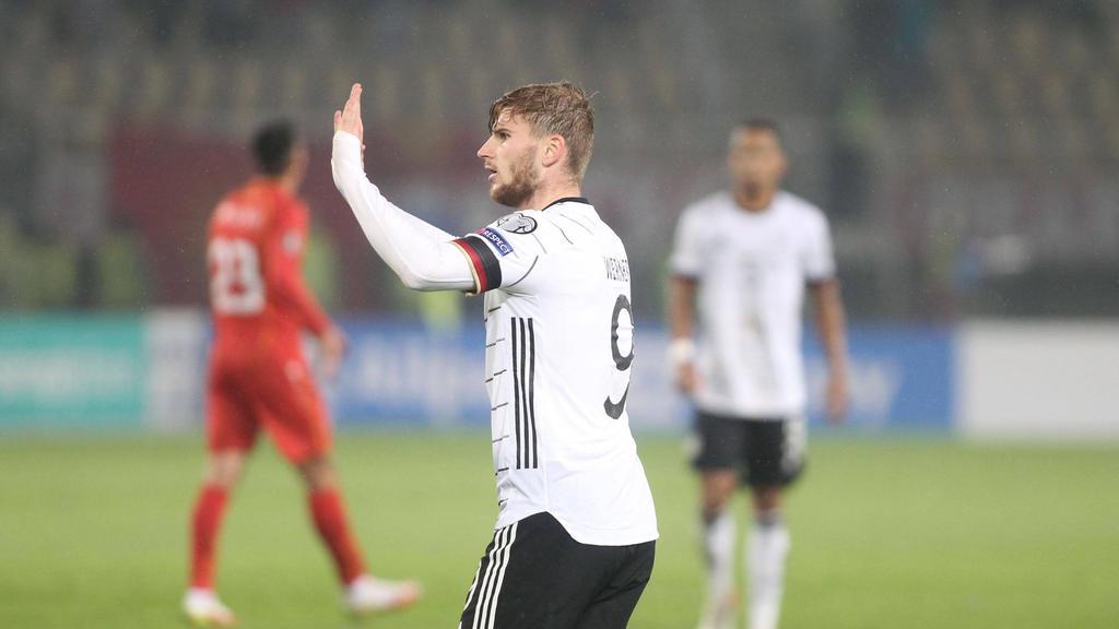 Erzielte gleich zwei Tore für die DFB-Auswahl gegen Nordmazedonien: Timo Werner