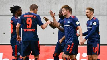 Der HSV setzte sich gegen Greuther Fürth durch