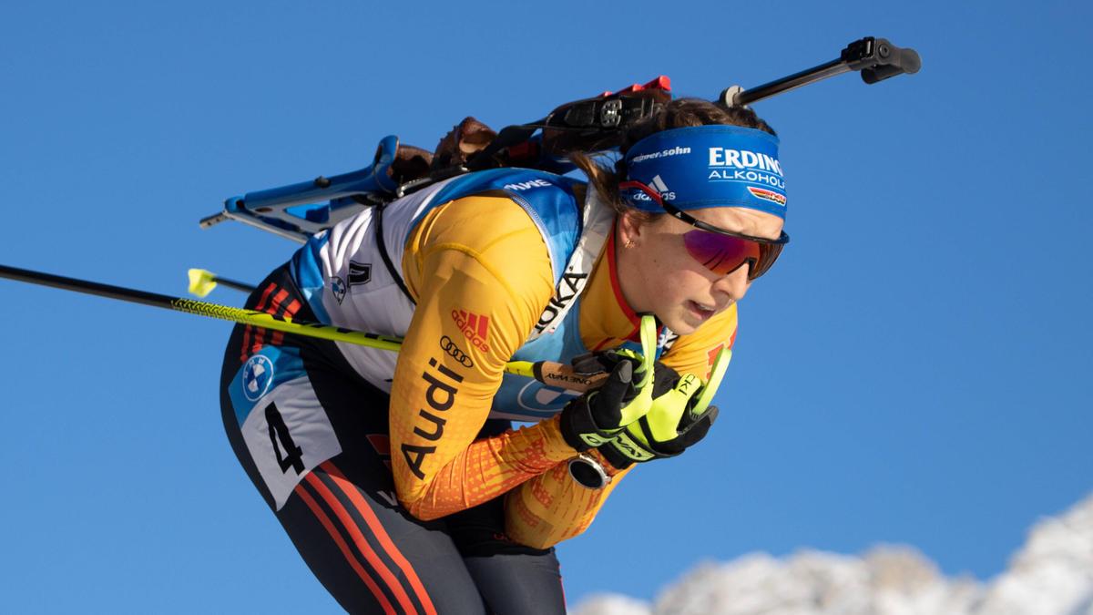 Franziska Preuß beste Deutsche im Sprint von Oberhof