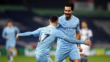 Ilkay Gündogan (r.) traf doppelt für Manchester City