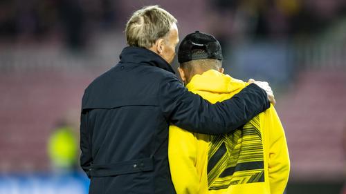 Jadon Sancho (r.) steht (noch) beim BVB unter Vertrag
