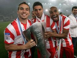 Olympiakos Piräus feiert die Meisterschaft 2008/2009
