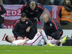 Arkadiusz Milik musste gegen Dänemark verletzt vom Feld
