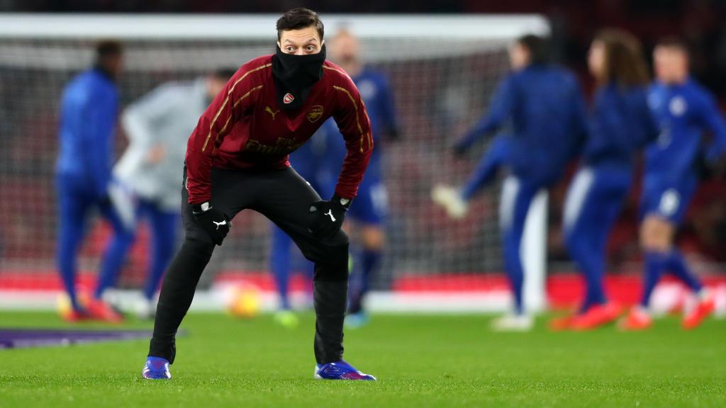 Mesut Özil spielt unter Arsenal-Coach Unai Emery nur eine Nebenrolle