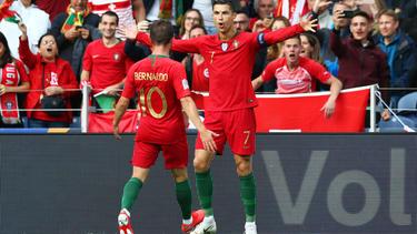 Bernardo Silva y Cristiano Ronaldo marcaron contra Luxemburgo.