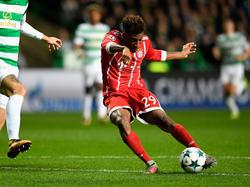 Kingsley Coman erzielt das 1:0 für die Bayern