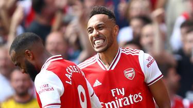 Alexandre Lacazette und Pierre-Emerick Aubameyang schossen die Tore für Arsenal