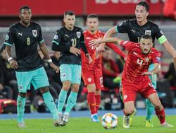 Österreich gegen Nordmazedonien