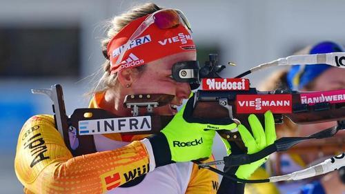 Denise Herrmann möchte bei der Biathlon-WM auch im Einzel eine Medaille gewinnen