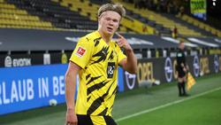 Erling Haaland stellte mit seinem Treffer am Samstagabend auf 2:0