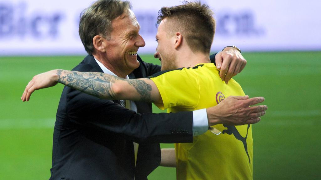 Langjährige Weggefährten beim BVB: Aki Watzke (l.) und Marco Reus