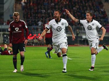 Haris Seferovic marcó el gol que mantiene al Eintracht en Primera. (Foto: Getty)