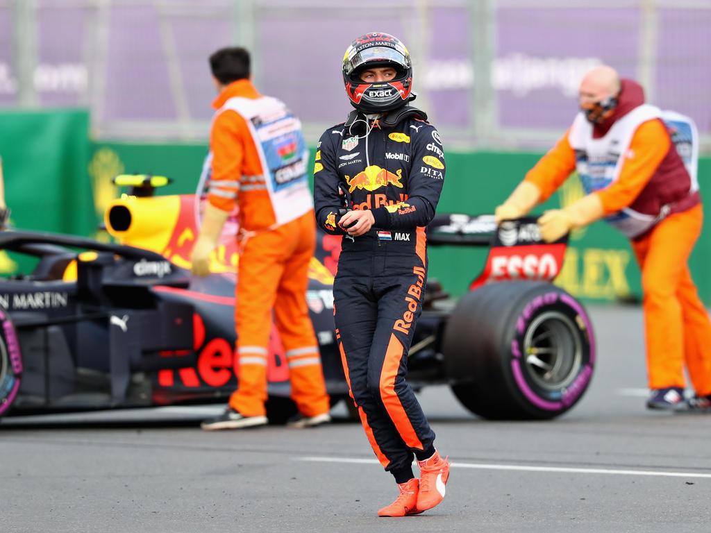 Ricciardo und Verstappen mussten sich nach dem Crash in Baku beim Team entschuldigen