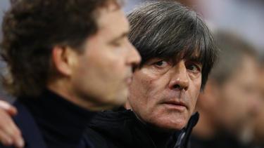 Bundestrainer Joachim Löw war mit der Leistung seiner Mannschaft zufrieden