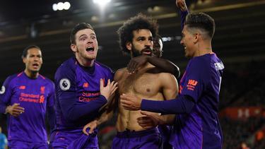 Salah brachte die Reds kurz vor Schluss in Führung
