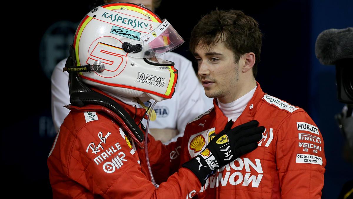 Noch hält der Osterfriede zwischen Sebastian Vettel und Charles Leclerc
