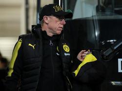 Ob Peter Stöger auch in der kommenden Saison BVB-Trainer ist, ist noch offen