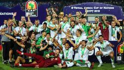Die Algerier feierten nach der Pokalübergabe