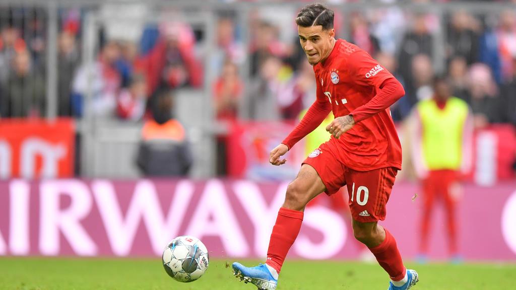 Coutinho spielt in der Saison 2019/20 leihweise beim FC Bayern
